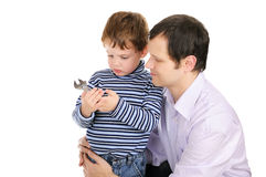 Father with the small son Stock Photography