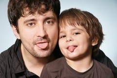 Father & son stock photo