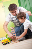 Father son play together family fun education Stock Photography