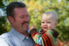 Father and Son. Father with his Son at their home Stock Photography