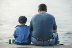 Father and son. Together Royalty Free Stock Photography