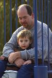 Father and Son. A father and son at the park Stock Image