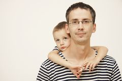 Father and son. Portrait of father nad cute son Stock Image