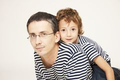 Father and son. Portrait of father and cute son Stock Images