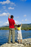 Father and Son Stock Images