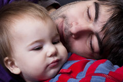 Father and son. Together in peace royalty free stock photos