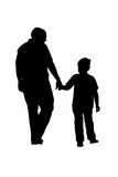 Father and Son. Vector illustration of father and son walking and holding hands Royalty Free Stock Photos