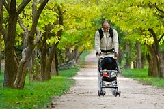Father with son. In park Stock Image