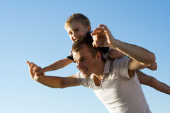 Father and son. stock photo