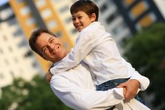 Father with son Stock Image