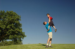 Father and son. In the park Stock Photos
