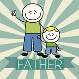 Father and son. Abstract father and son on special background Royalty Free Stock Photography