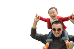 Father and son affection Stock Photo