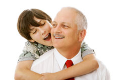 Father Son Affection Stock Images