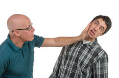 A father and son are angry Stock Photo