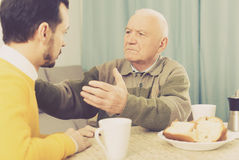 Father and son arguing Stock Images