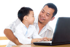 Father and son Stock Photos