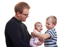 Father with son and baby Stock Photos