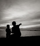 Father and son. On the beach Royalty Free Stock Photography