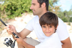 Father and son bonding Royalty Free Stock Photos