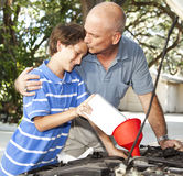 Father Son Bonding Moment Stock Images
