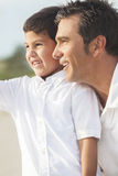 Father and Son Boy Child Having Fun At Beach Royalty Free Stock Photo