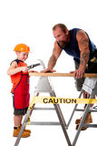Father and son carpenter job Stock Photos
