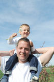 Father and son - carrying on shoulder Royalty Free Stock Photo