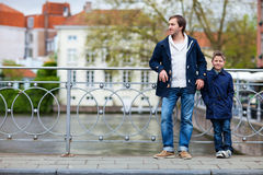 Father and son in city Stock Photography