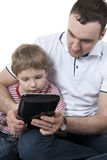 Father and son with the computer. Royalty Free Stock Photos