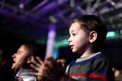 Father with son at a concert Royalty Free Stock Photography