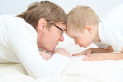 Father and son conflict Royalty Free Stock Photos