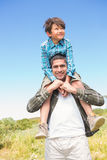 Father and son in the countryside Royalty Free Stock Photography