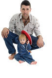 Father and Son Cowboy portrait Stock Image