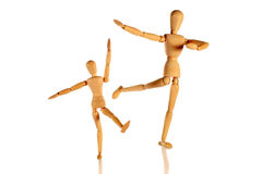 Father and son dancing Royalty Free Stock Images