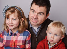 Father son and daugther portrait Stock Photography