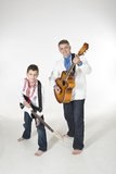Father and son duet Royalty Free Stock Images