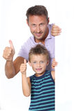Father and son expression Stock Photos