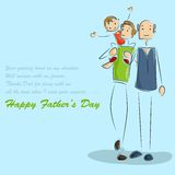 Father and son in Father's Day background Stock Images