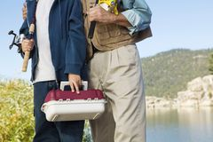 Father and son on fishing trip Stock Photography