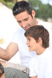 Father and son fishing trip. Royalty Free Stock Photo