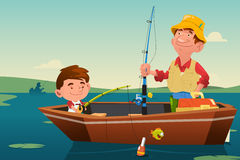 Father Son Fishing Stock Image