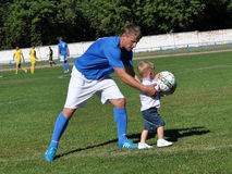 Father and son with football myachem_3 Stock Photography