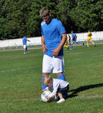 Father and son with football myachem_2 Royalty Free Stock Photo