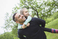 Father and son in forest on a meadow. A Father and son in forest on a meadow stock images
