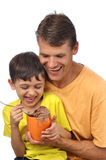 Father and son fun Stock Photos