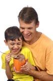 Father and son fun Stock Photos