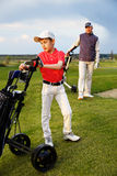 Father with son at golf Royalty Free Stock Image