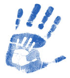 Father and son handprints illustration Royalty Free Stock Image