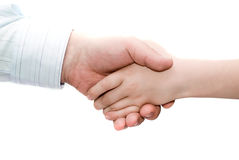 Father and son handshake Royalty Free Stock Photo